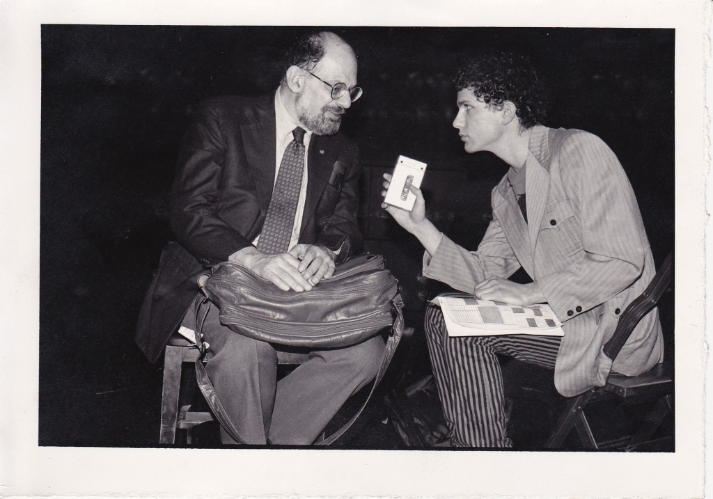 Allen Ginsberg and Pat Thomas discussing The Clash, King Crimson, and the Dream Syndicate in 1984